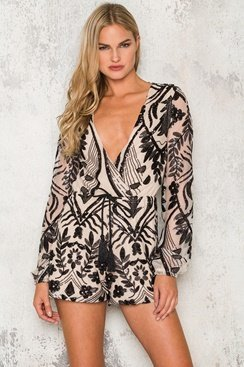 Alexandria Playsuit- Black