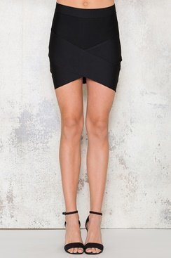 Bandage Skirt - Black
