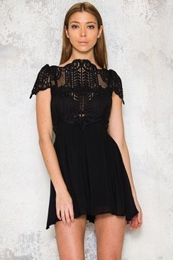 Cienna Playsuit - Black