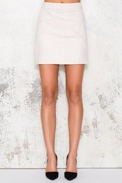Suede Skirt - Light Pink